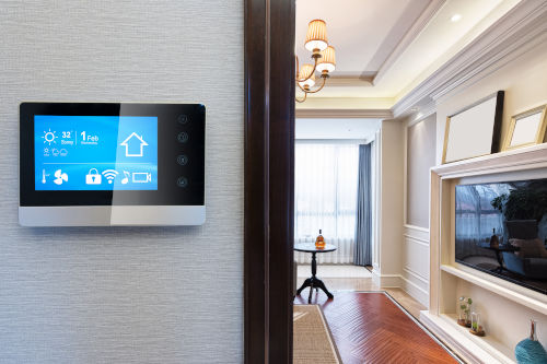 smart home with smart screen